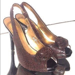 *SALE* NEW Kelly & Katie sling back python shoes